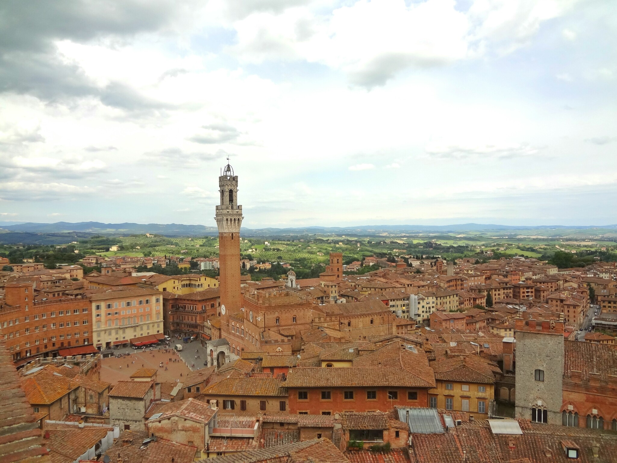 Rooftop View of Piazza di Campo, Siena