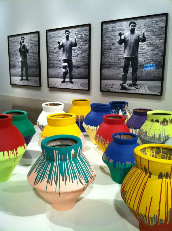Ai WeiWei's Han Dynasty Vases Dipped in Industrial Paint