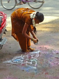 Decorating for Pongal