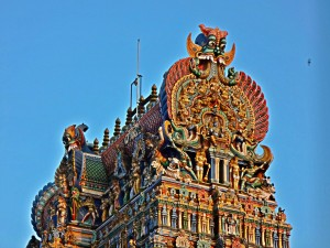 Gopuram Detail, Meenakshi Temple, Madurai