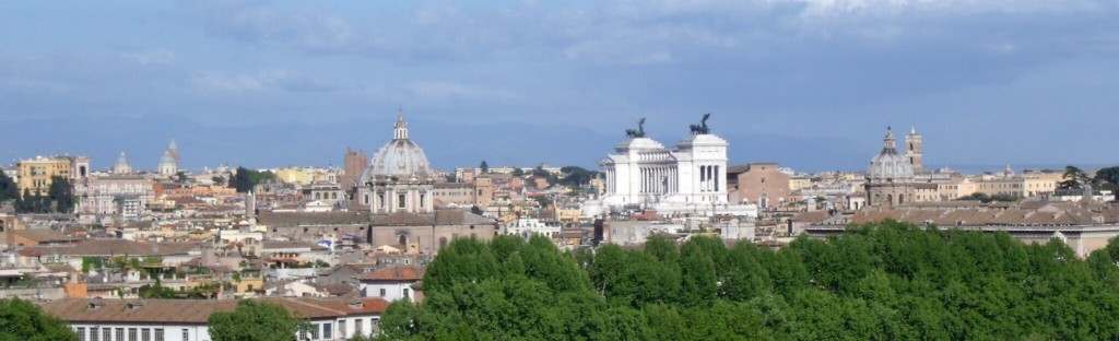 Viiew of Rome from Gianicolo Hill