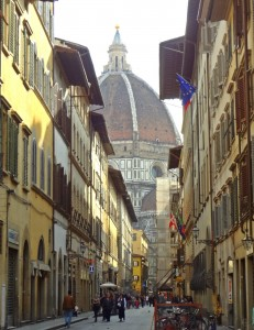 View of the Duomo From a Side Street