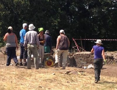 Archaelogists at Work in Parco Archaeologica di Tuscolo