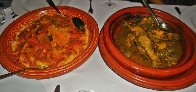 Vegetable Couscous and Chicken Tagine