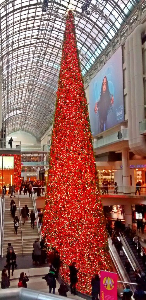 Christmas Tree Eaton Shopping Centre Toronto