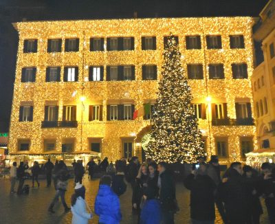 Christmas Tree Valentino Building, Rome
