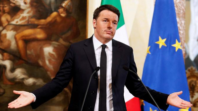 Matteo Renzi in Palazzo Chigi Source: Business Insider